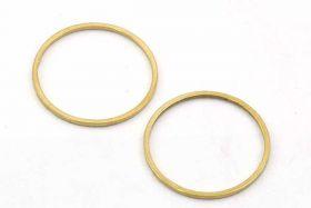 Rustfri stål vedhæng 19,5 mm Guld