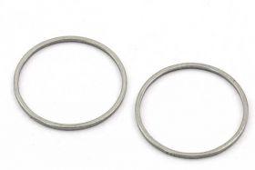 Rustfri stål vedhæng 19,5 mm