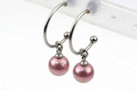 Creoler øreringe rustfri stål med shell perler