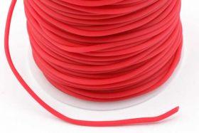 Gummisnøre Rød 2 mm hul