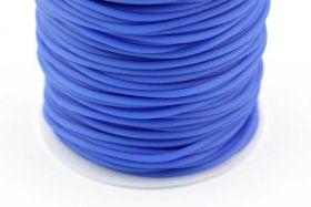 Gummisnøre Blå 2 mm hul