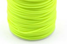 Gummisnøre Neongul 2 mm hul