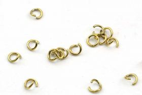 O-ringe rustfri stål guld hul 2,2 mm 20 stk