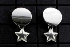 Creoler øreringe rustfri stål med lille stjerne