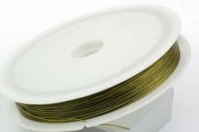 Smykkewire Guld 0,45 mm  55 mtr