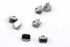 Endestykke klemme Rustfri stål 6x6,5 mm 6 stk