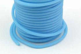 Gummisnøre lysblå 4 mm