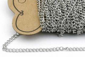 Rustfri stål smykkekæde 4 x 3 mm