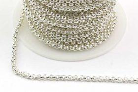Rustfri stål kæde Sølvfarve 2,5 mm