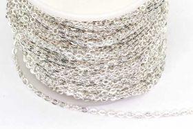 Rustfri stål kæde Sølvfarve 3x2 mm