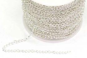 Rustfri stål kæde Sølvfarve 4x2,5 mm