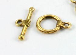 Smykkelås antique golden 10 sæt.