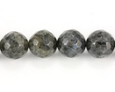 Larvikite faceteret rund 10 mm