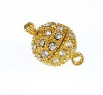 Magnet lås guld farve 12 mm