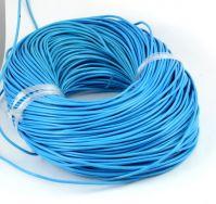 Lædersnøre lys blå 2 mm