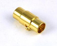 Magnet bajonet lås guld farve 5 mm