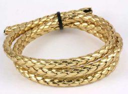 Imiteret lædersnøre guld 7 mm