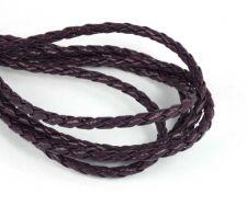 Imiteret lædersnøre Lilla 3 mm