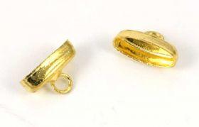 Enderør oval guld farve 10 stk