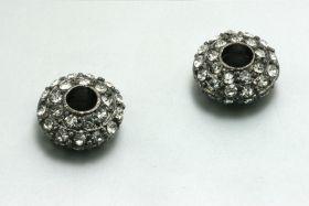 Rhinsten perle Gunmetal 16x8 mm