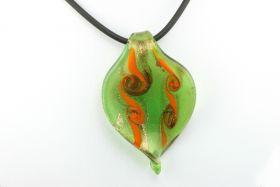 Murano glasvedhæng grøn