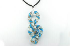 Murano glasvedhæng blå