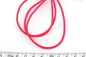 Gummisnøre 2 mm hul pink