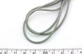 Gummisnøre 2 mm hul grå