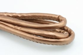 Randsyet imiteret lammeskind 7x6 mm Kobber