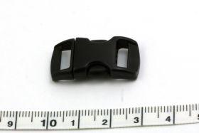 Lås til faldskærmsline sort plastic