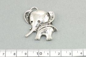 Vedhæng  Elefant 30 x 35 mm