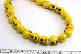 Magnesit skull gul 14x18 mm