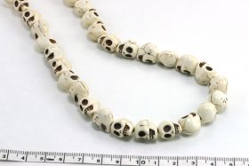 Magnesit skull hvid 10x12 mm