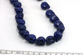 Magnesit skull blå 14x18 mm