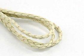 Imiteret lædersnøre råhvid 3 mm