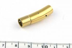 Tube lås Rustfri stål, guld, 6 mm hul