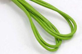 Lædersnøre limegrøn 2 mm