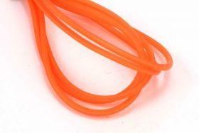 Gummisnøre 2 mm hul Orange