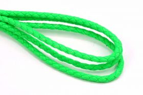 Imiteret lædersnøre Grøn 4 mm