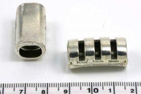 Charm hul 10x7 mm aflang med riller