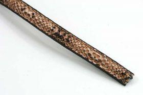 Imiteret slangeskind brun 10x5 mm