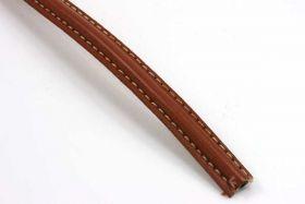 Imiteret lædersnøre lys brun 10x5 mm