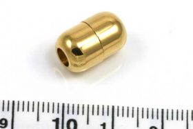 Rustfri stål lås guld 4 mm hul