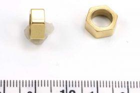 Rustfri stål led guld 7 mm hul
