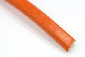 Lædersnøre regaliz orange 10x6 mm