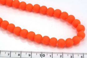 Jadeperler  neon orange 10 mm