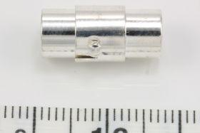 Magnet bajonet lås sølv farve 5 mm