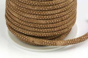 Imiteret slangeskind sand 4 mm