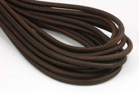 Randsyet læder brun 6 mm 1/2 mtr.