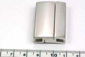 Magnetlås hul ca.40x4 mm platinfarve